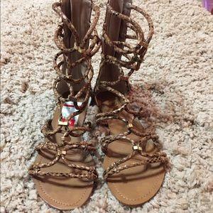 Snakeskin gladiator sandals nwt